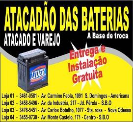 AMERICANA BATERIAS em AMERICANA - Baterias Automotivas Venda ... d194f3b790b